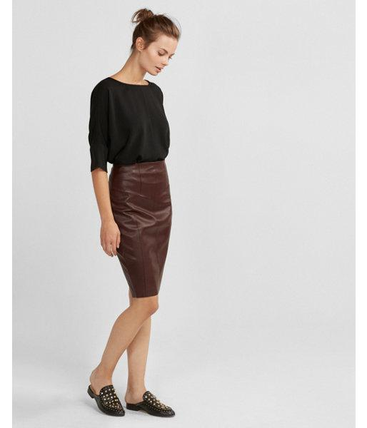 express high waisted minus the leather pencil skirt in