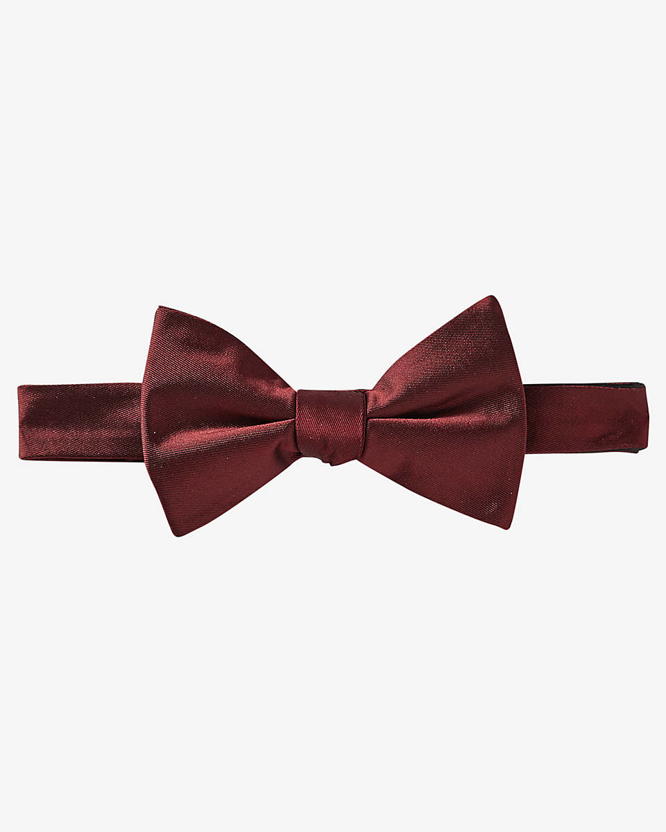 express silk bow tie in black for lyst