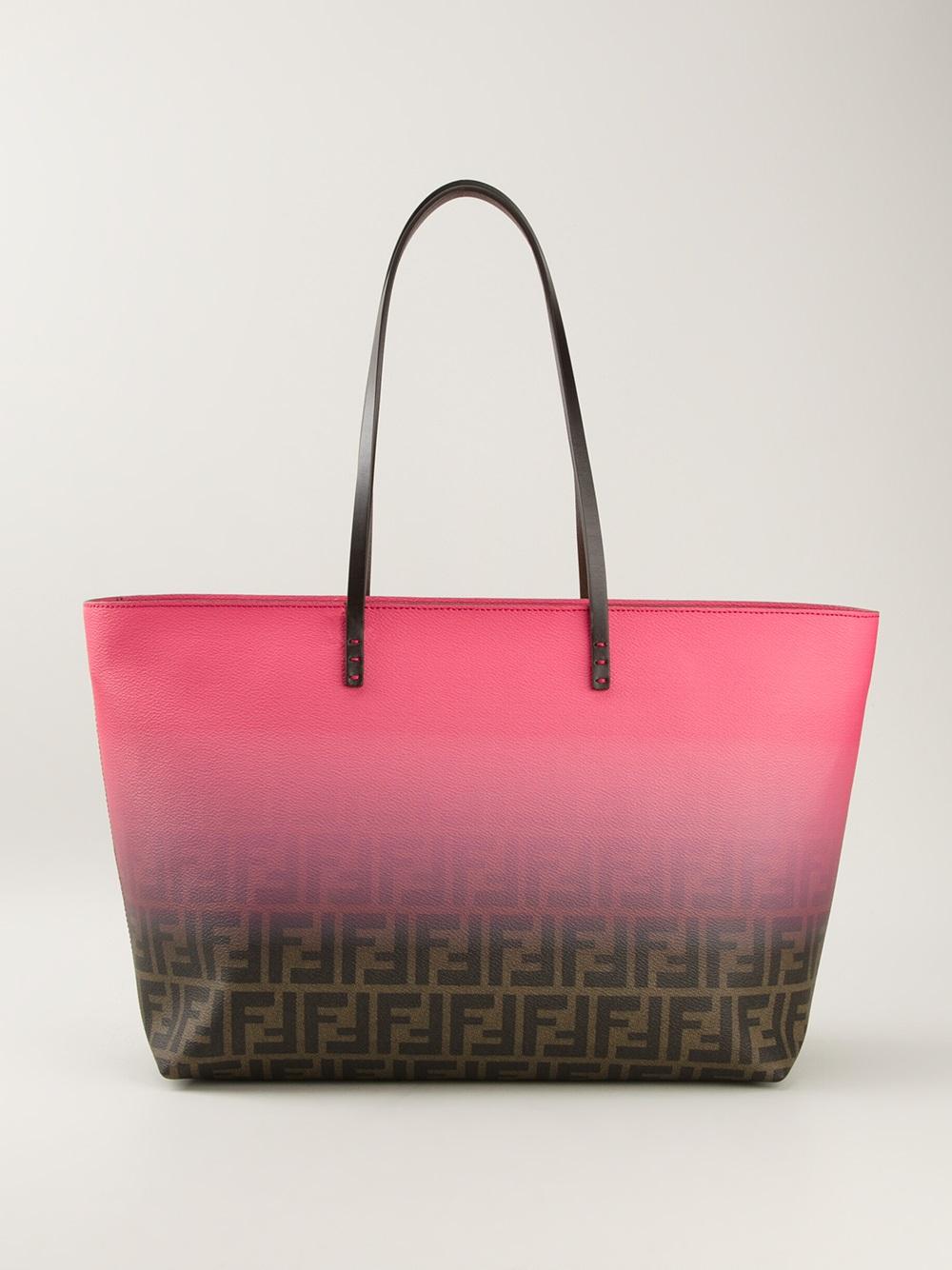 Lyst - Fendi Zucca Shopper Tote in Pink 7496abcd5edd4