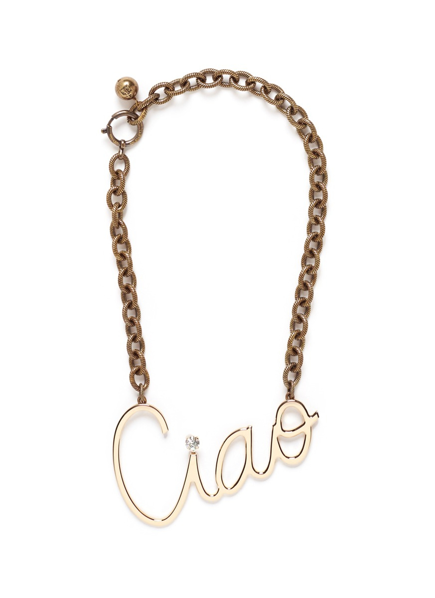 Lanvin Ciao Necklace in Metallics