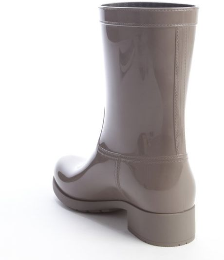Prada Sport Grey Rubber Rain Boots In Gray For Men Grey