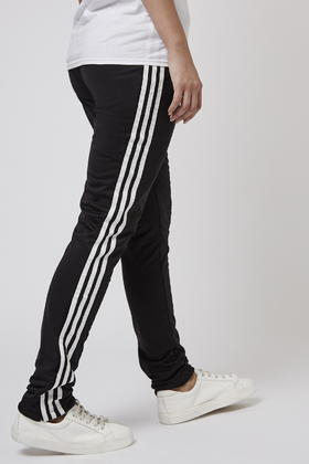 bf057a36d929 Lyst - TOPSHOP Slim Trackpants By Adidas Originals in Black
