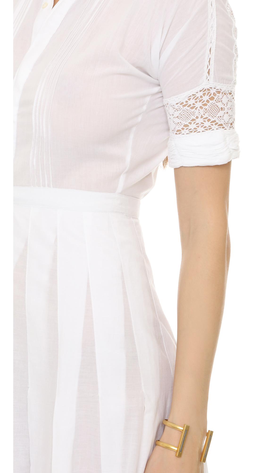Lyst Loveshackfancy Cotton Crochet Lace Eden Dress In White