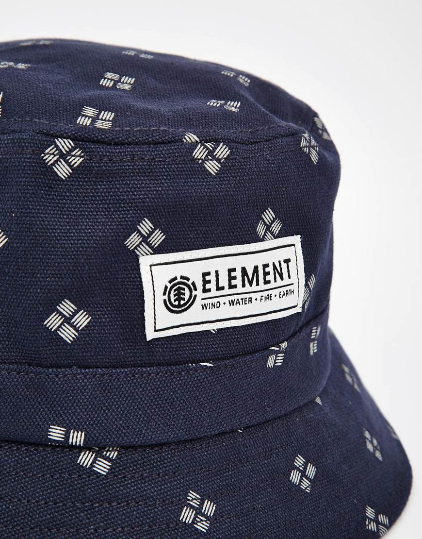 Lyst - Element Pitch Bucket Hat in Blue for Men 4130f3d442c