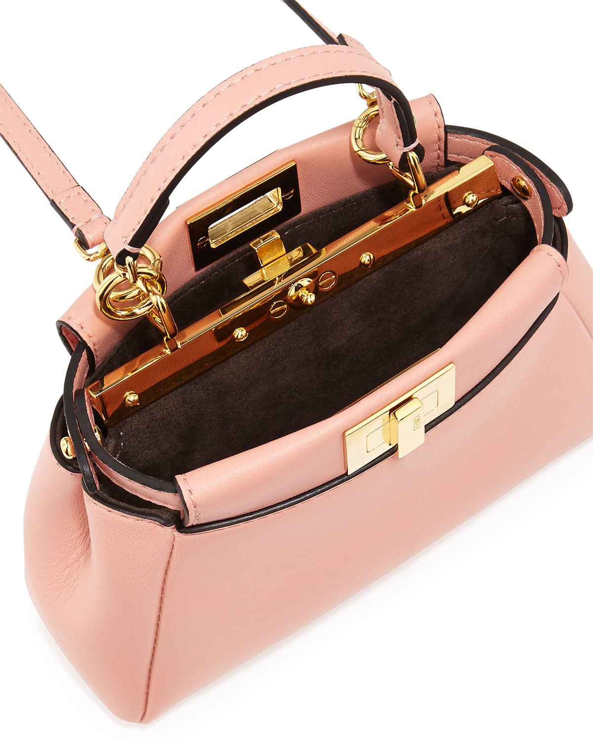 Fendi Peekaboo Micro Satchel Bag in Pink - Lyst a13fcc8b4b607