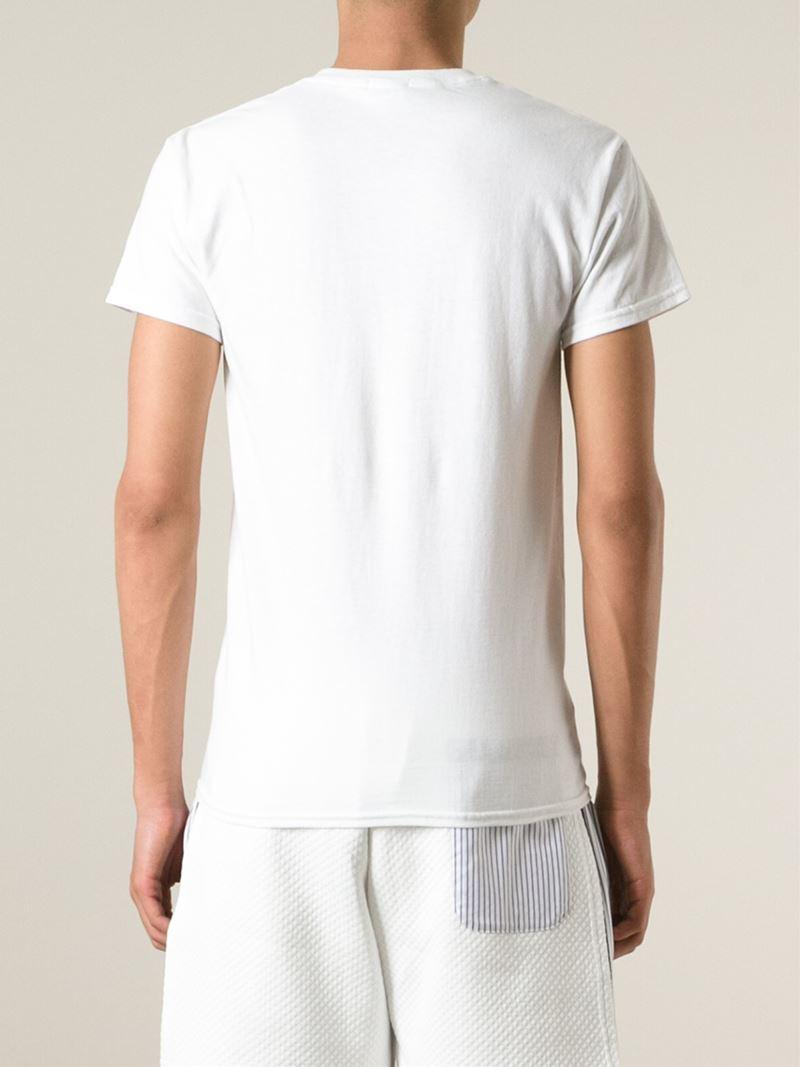 Lyst Nasir Mazhar Graphic Logo Print T Shirt In White