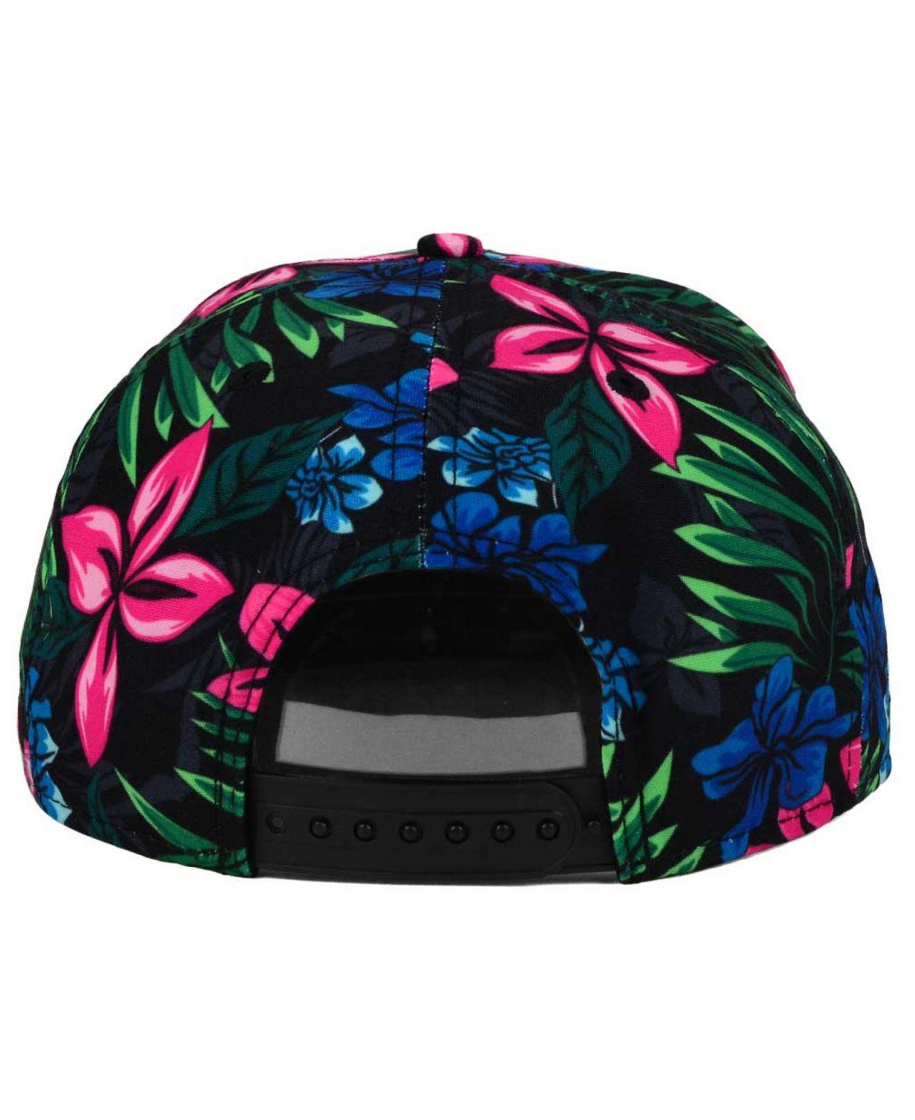 quality design 24ae9 9a981 ... reduced lyst ktz new york knicks shadow floral 9fifty snapback cap in  00868 303f6
