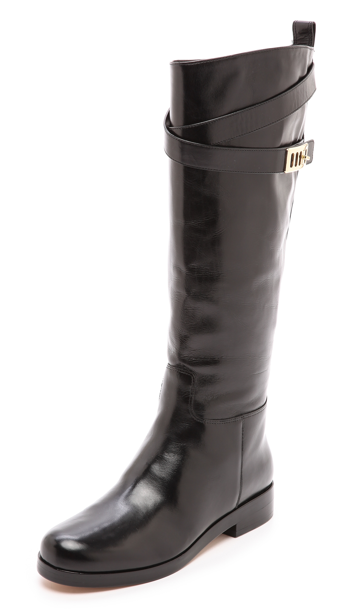 b7e206d579e7 Lyst - Michael Kors Brynlee Riding Boots - Black in Black