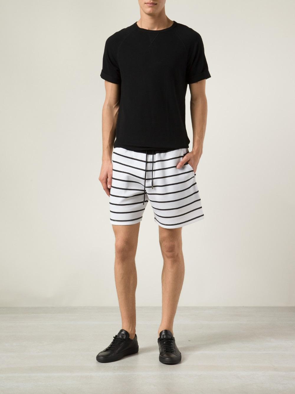 Neil barrett Striped Shorts in Black for Men | Lyst