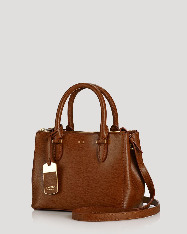 f0e2ccd8e0 Lyst - Ralph Lauren Lauren Mini Bag Newbury Double Zip in Brown