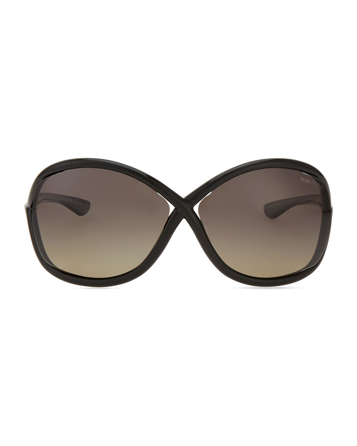 fd5217849a7 Lyst - Tom Ford Whitney Polarized Cross Sunglasses in Black