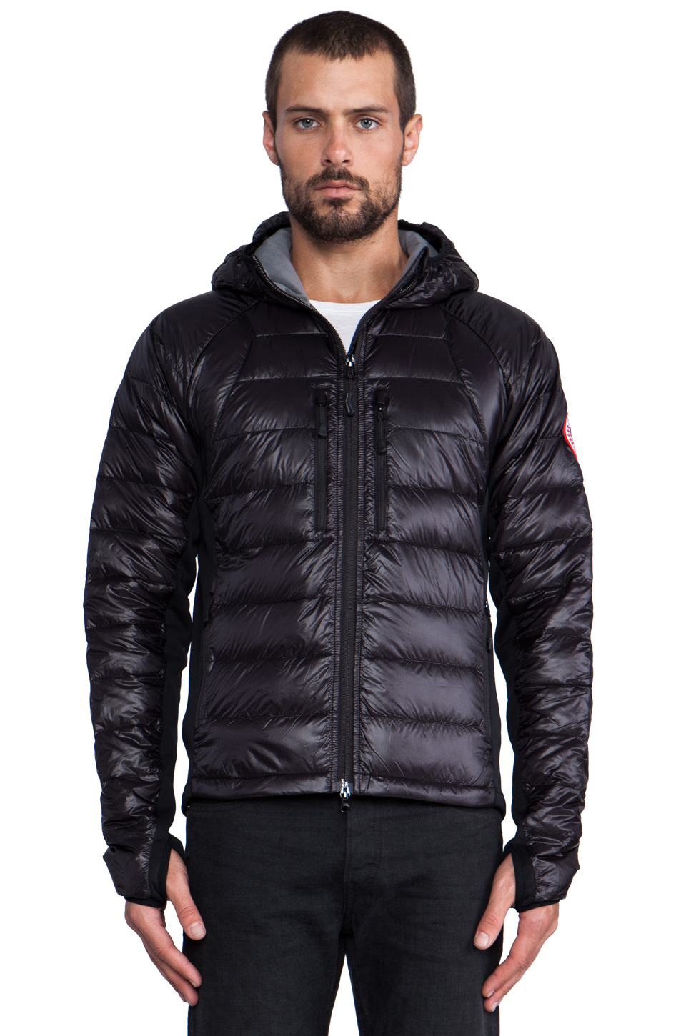 canada goose black bubble jacket