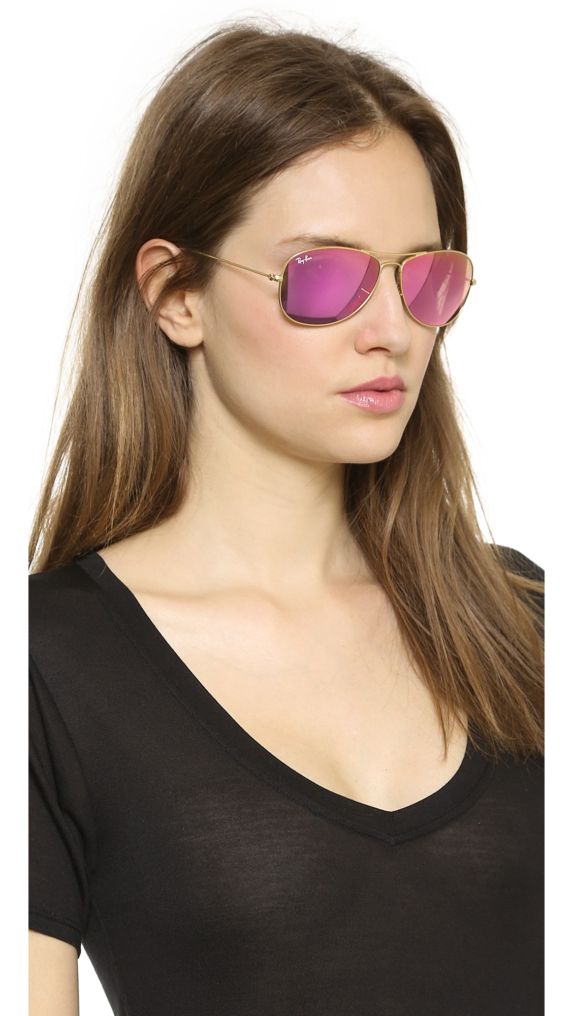 ... ray ban womens aviator sunglasses lilac ...