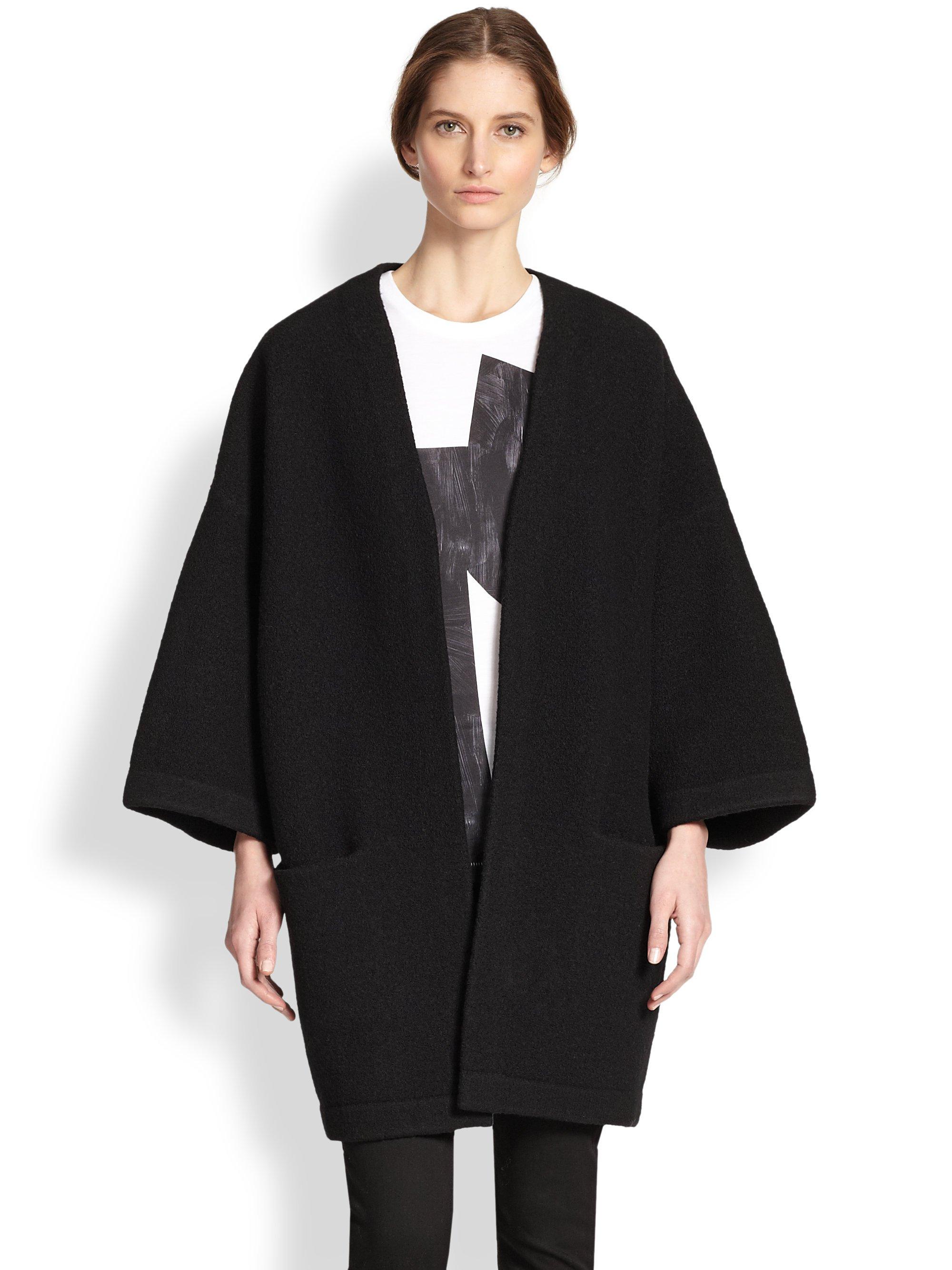 Lyst Acne Studios Oversized Wool Cocoon Coat In Black