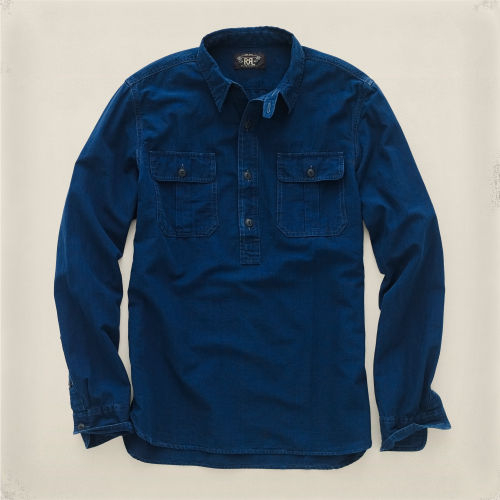Rrl Anthony Pullover Workshirt in Blue for Men | Lyst