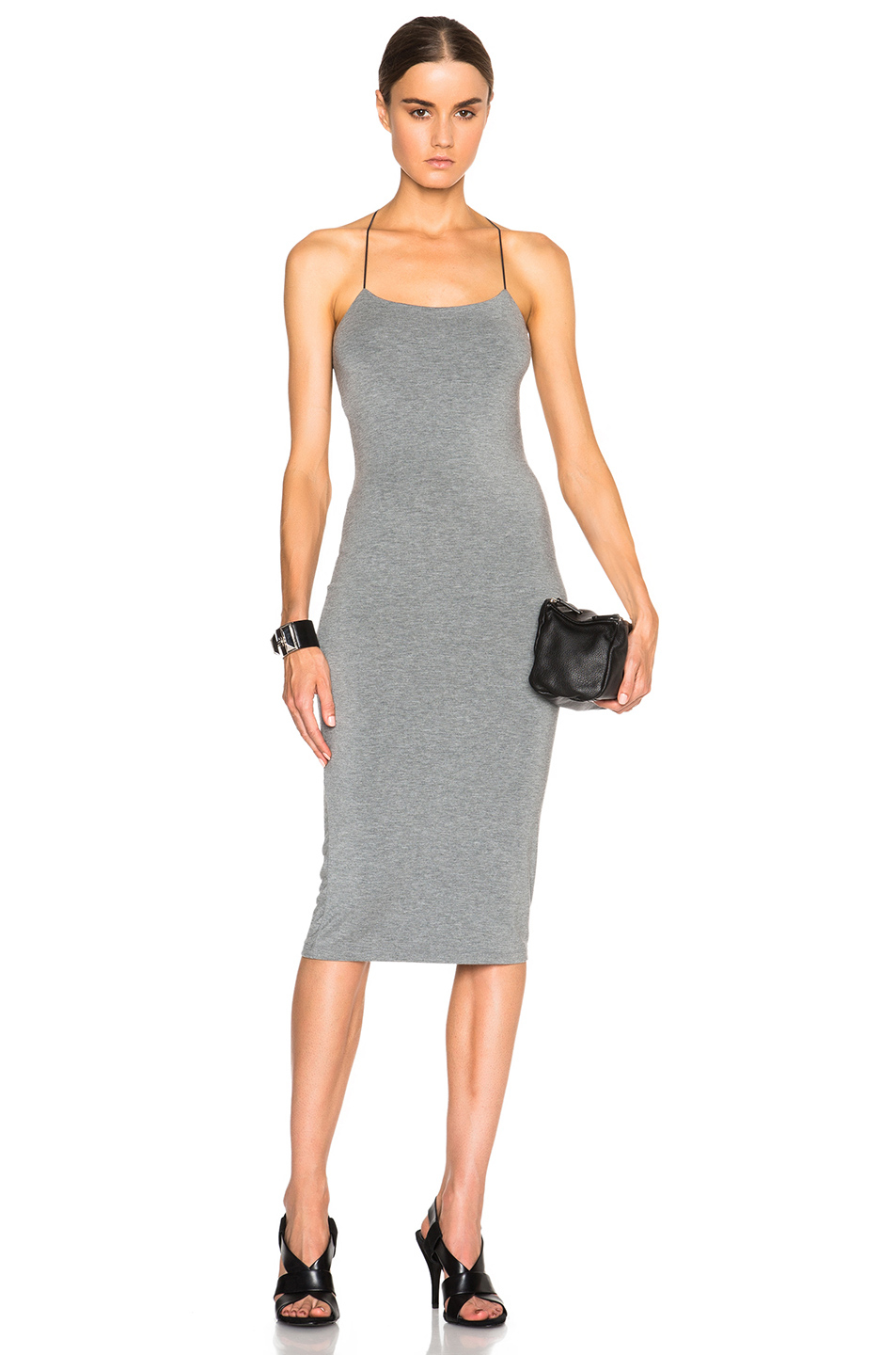 3a83a771e9f T By Alexander Wang Modal Spandex Strappy Tank Dress in Gray - Lyst