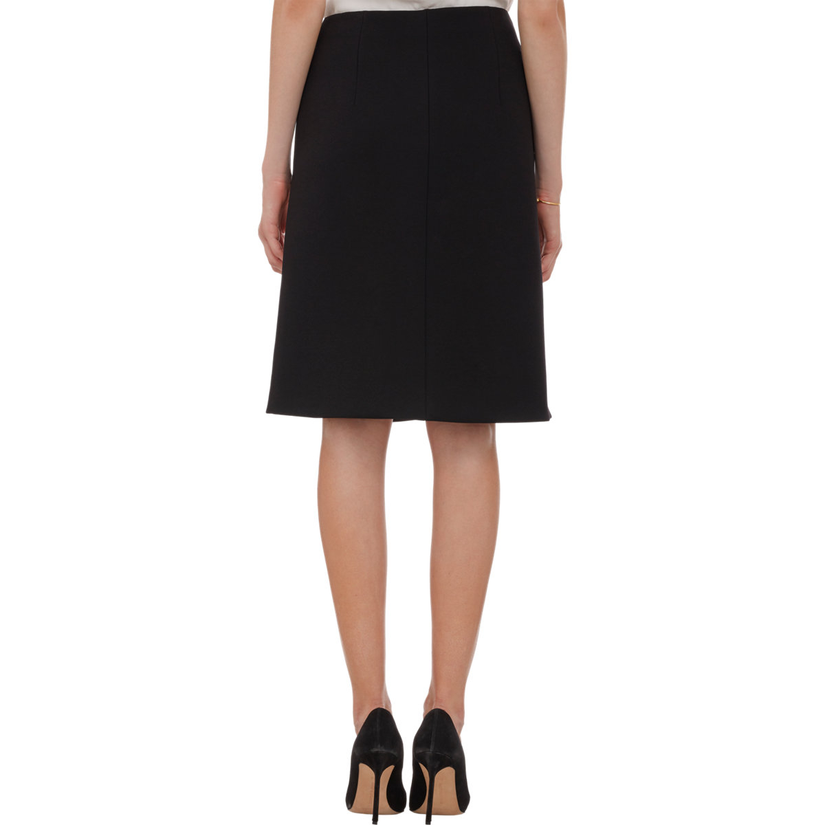 bottega veneta ornate leather appliqu 233 pencil skirt in