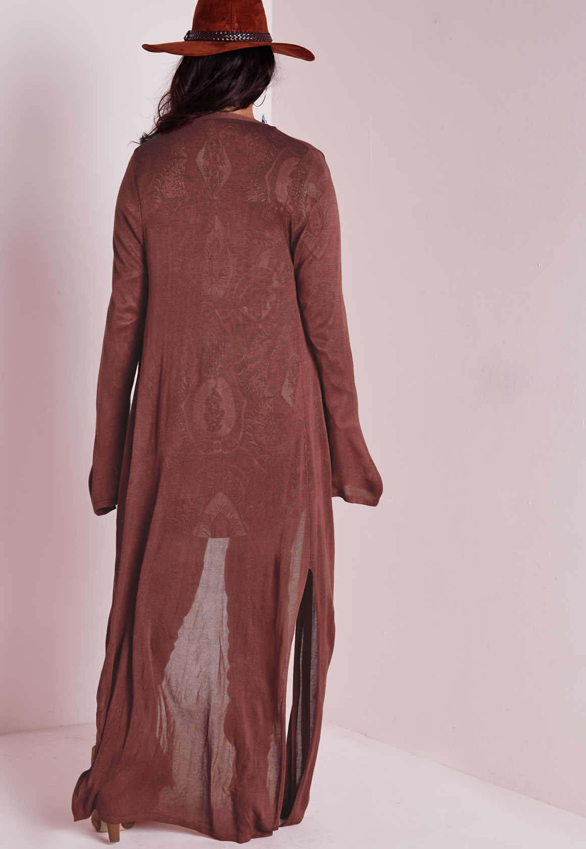 Missguided Plus Size Maxi Cardigan Rust in Brown | Lyst