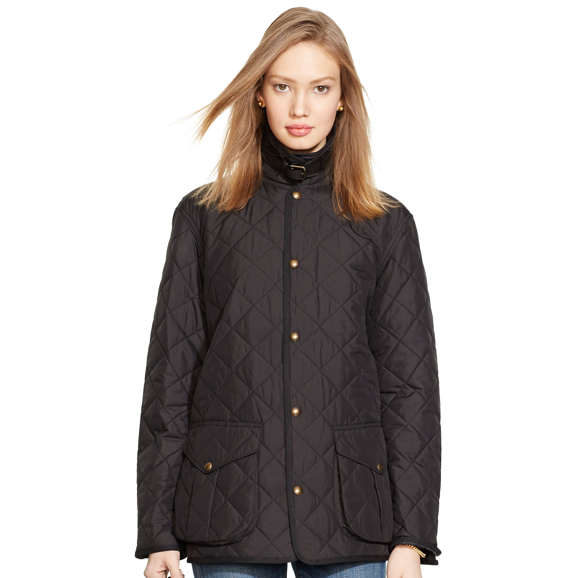 Lyst Polo Ralph Lauren Diamond Quilted Mockneck Coat In