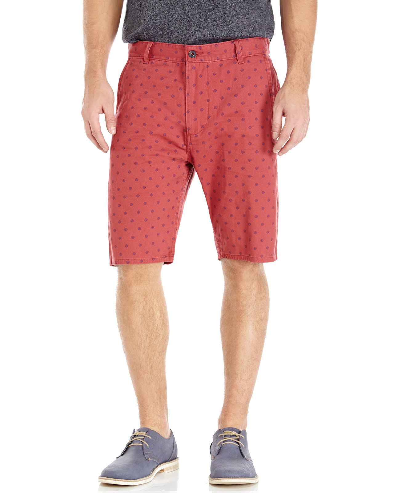 Dockers Red Alpha Printed Bermuda Shorts in Red for Men | Lyst