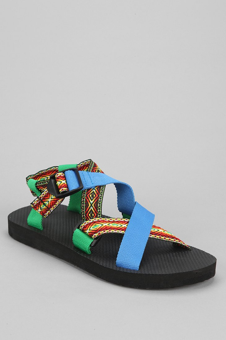 Lyst Urban Outfitters Nylon Hiking Strap Sandal In Black