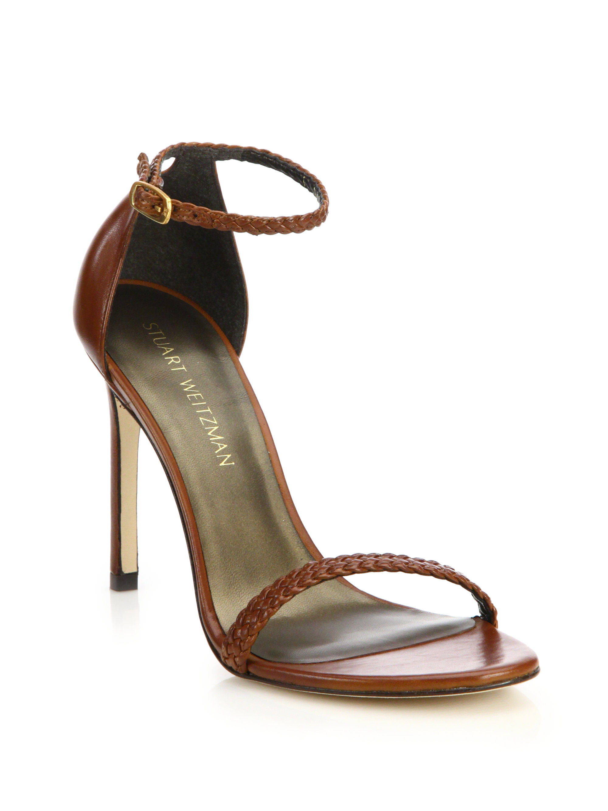 Stuart Weitzman Nudist woven sandals