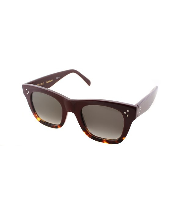 Celine Red Sunglasses  céline cathrine cl 41089 aev burgundy square plastic sunglasses in