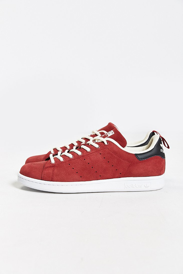 Adidas Originals Originals Top Ten Low Sneaker In Black: Adidas Originals Stan Smith Nubuck Sneaker In Red