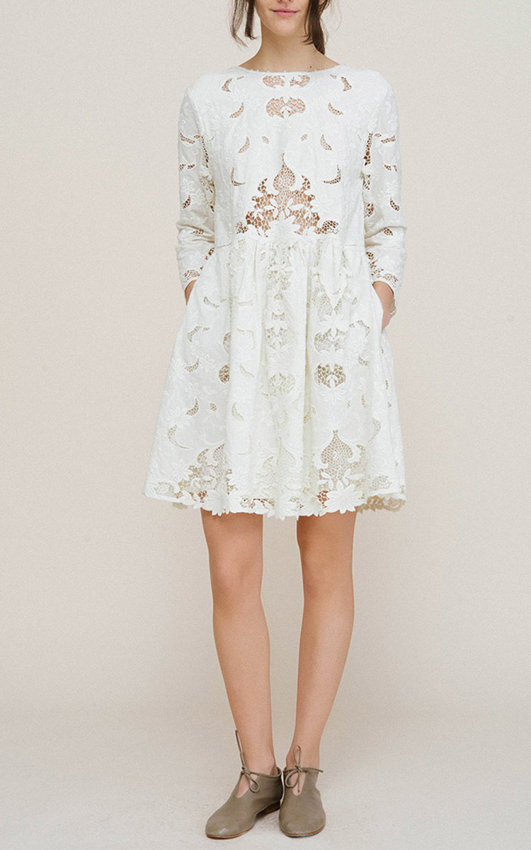 59cc68f46045 Lyst - Sea Wild Garden Lace Cutout Dress in White