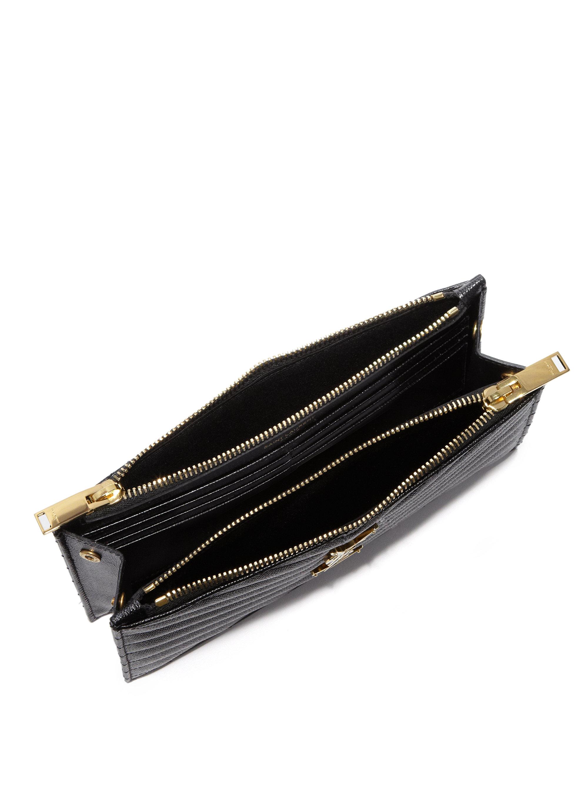 Women'S Italian Leather Double Zip Wallets 24