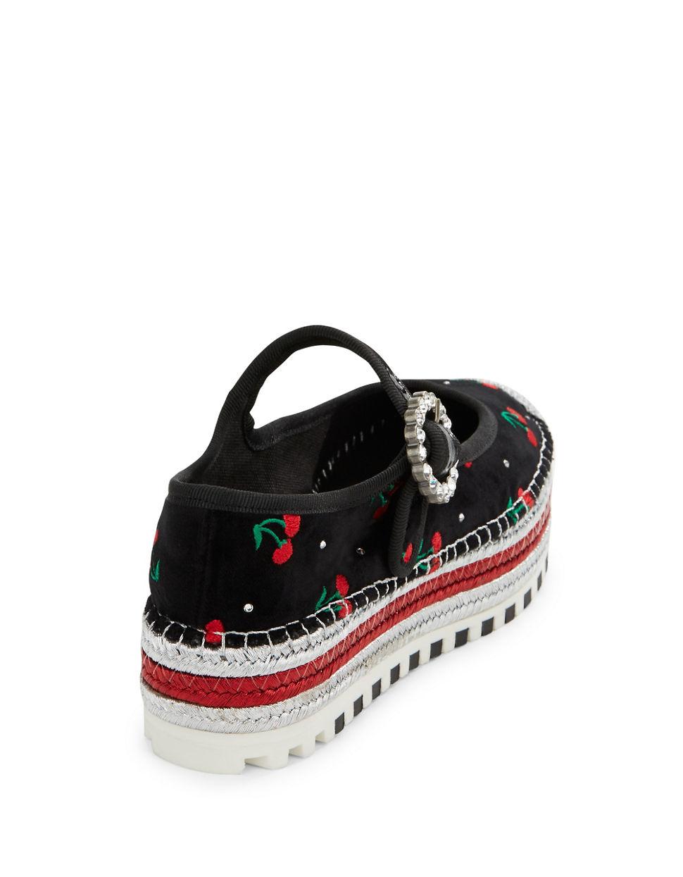 d8e163daa25 Marc Jacobs Suzi Cherry Espadrille Platforms in Black - Lyst