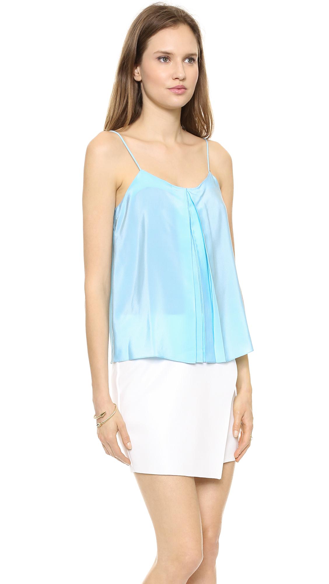 Lyst Amanda Uprichard Summer Camisole Hot Pink In Blue
