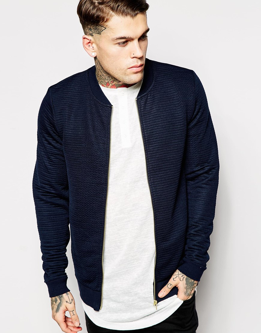 Collection Mens Blue Bomber Jacket Pictures - Reikian