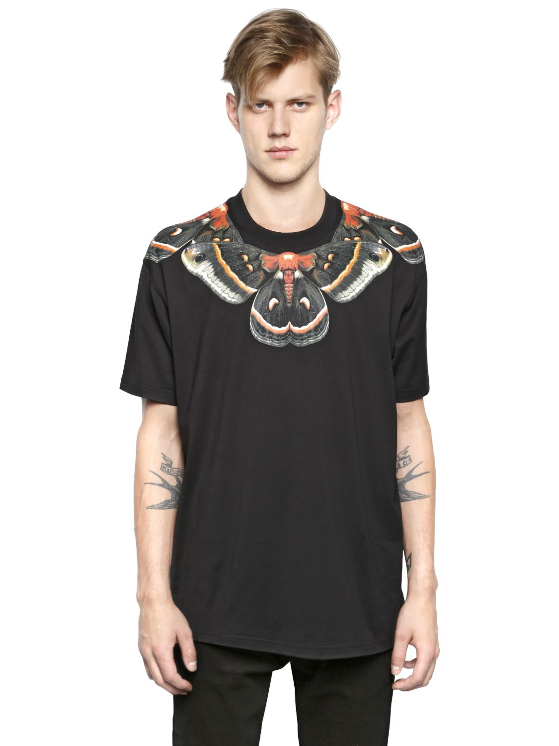 Givenchy Columbian Fit Butterfly Cotton T Shirt In Black