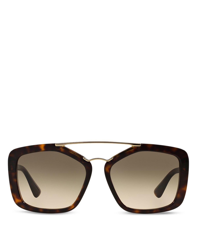 f054acc70a01d Lyst - Prada Catwalk Double Bar Square Sunglasses