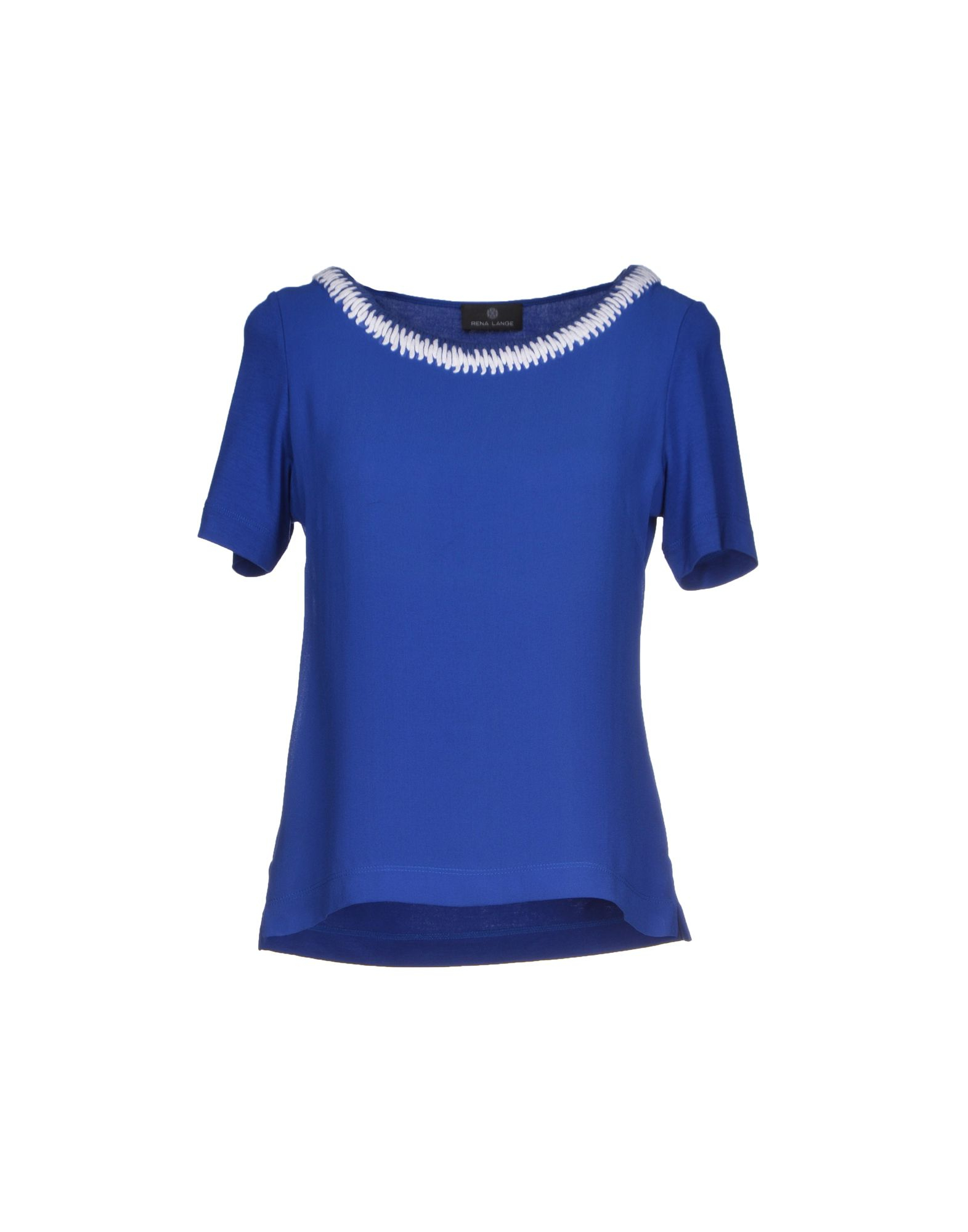 rena lange t shirt in blue bright blue save 81 lyst. Black Bedroom Furniture Sets. Home Design Ideas