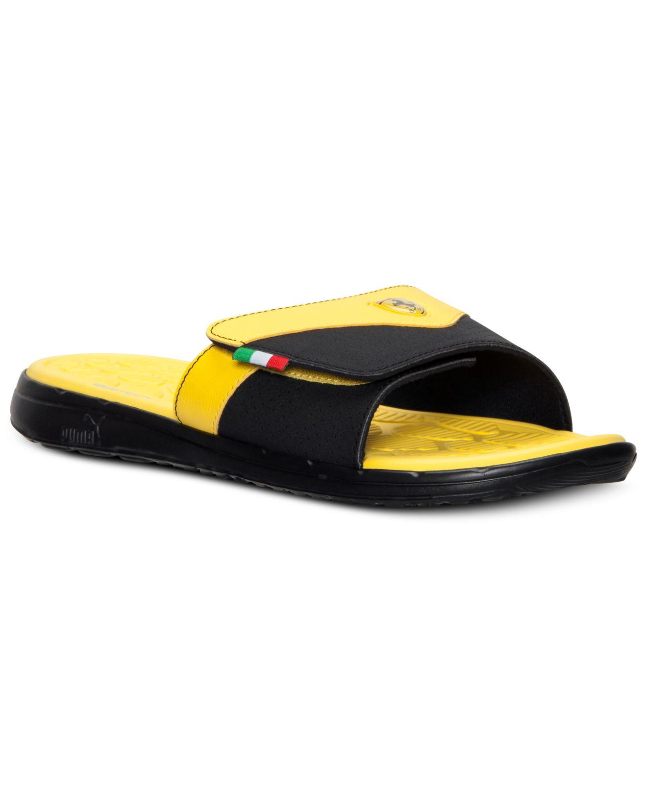 Lyst - PUMA Men S Ferrari Slide Sandals From Finish Line in Yellow ... b243d9069