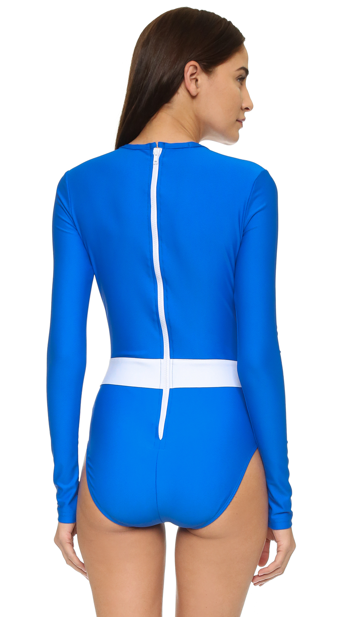 Lyst - Cover Long Sleeve Swimsuit in Blue