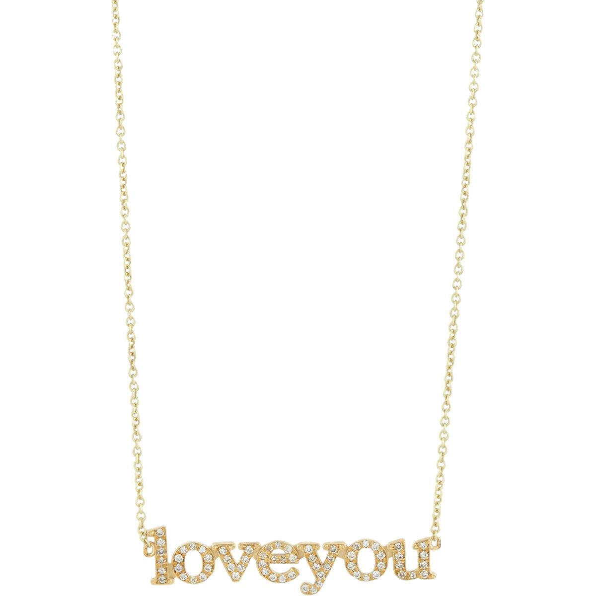 Jennifer Meyer 18k Gold Love You Necklace VwiJVqytjg