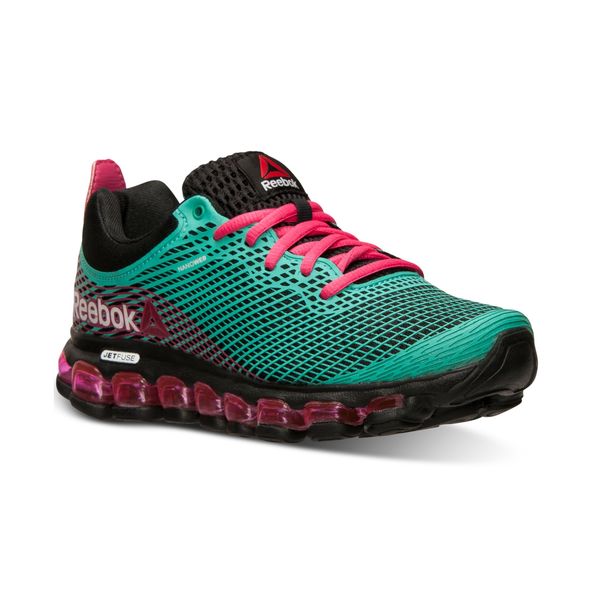 huge discount 60766 efac9 ... spain lyst reebok womens z jet running sneakers from finish line in  green 5a91c 70977