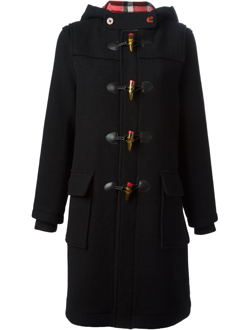 Marc by marc jacobs 'Paddington' Duffle Coat in Black | Lyst