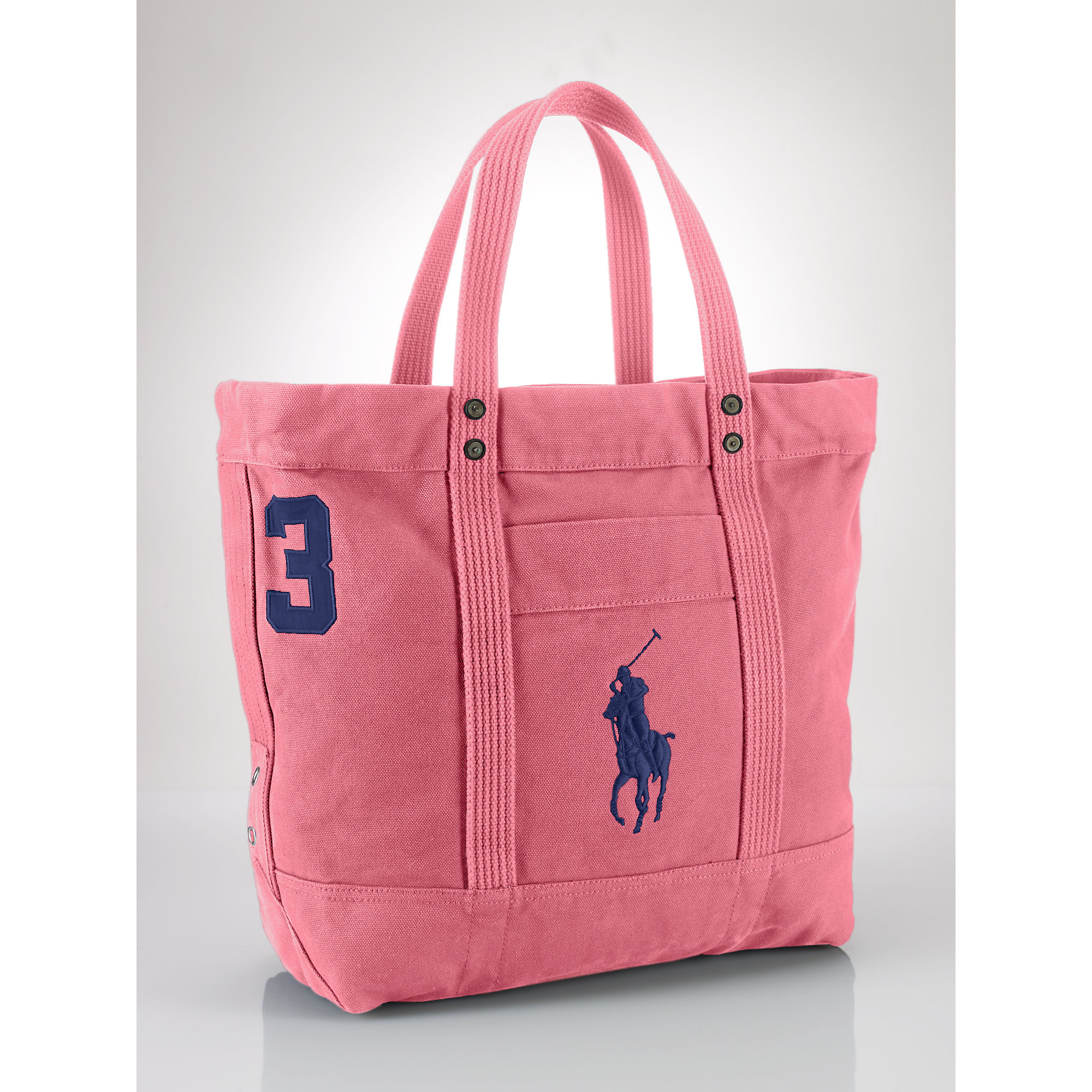 e47059a8c3d0 Lyst - Polo Ralph Lauren Big Pony Zip Tote in Pink for Men