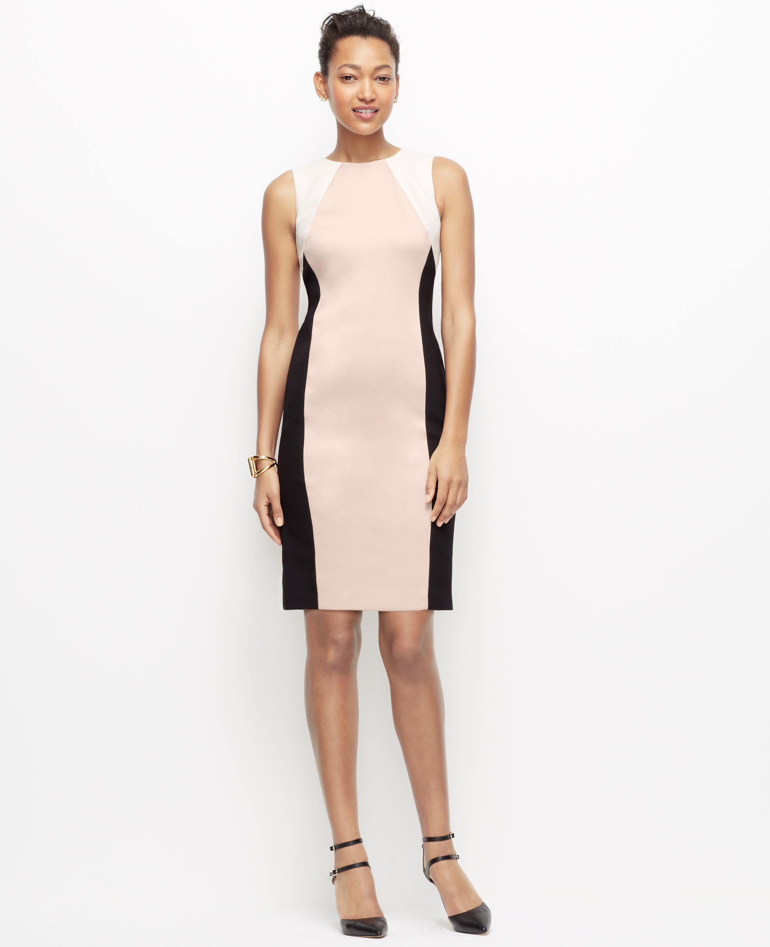Colorblock Sheath Dress – fashion dresses