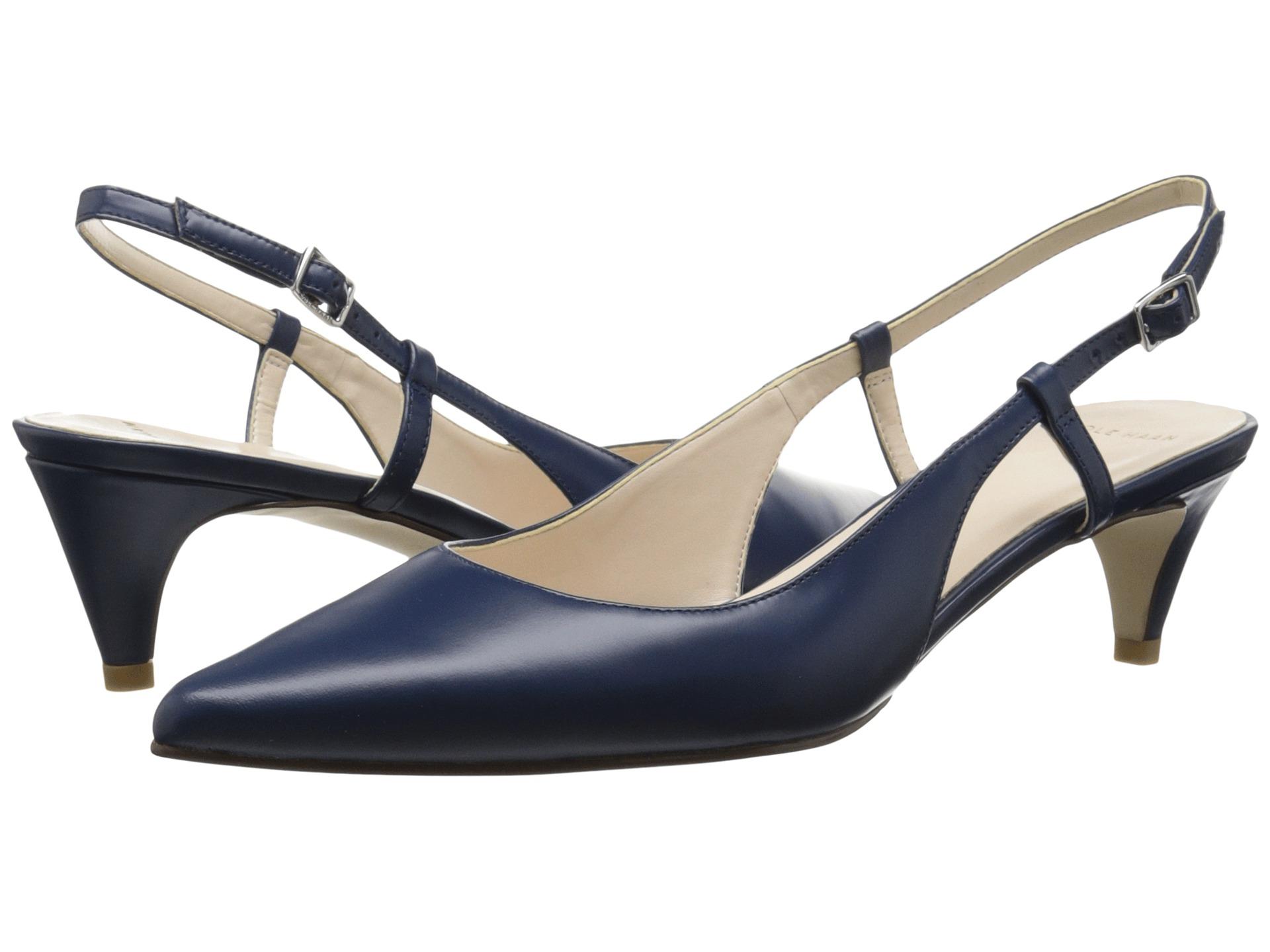 Womens Shoes Cole Haan Juliana Low Sling 45 Blazer Blue