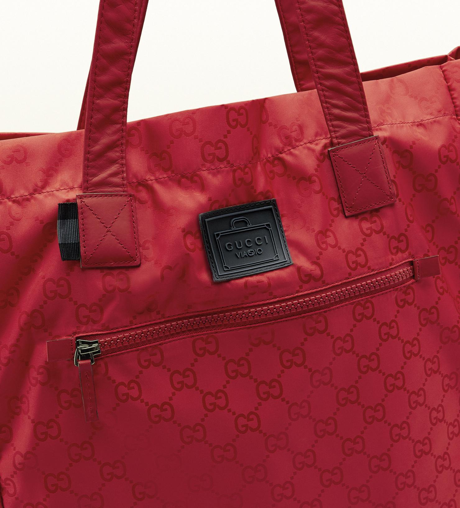86b8945e3a5b Gucci Gg Nylon Tote From Viaggio Collection in Red for Men - Lyst