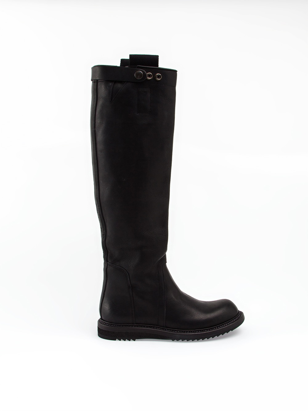 Rick owens Mid-Calf Riding Boots in Black | Lyst