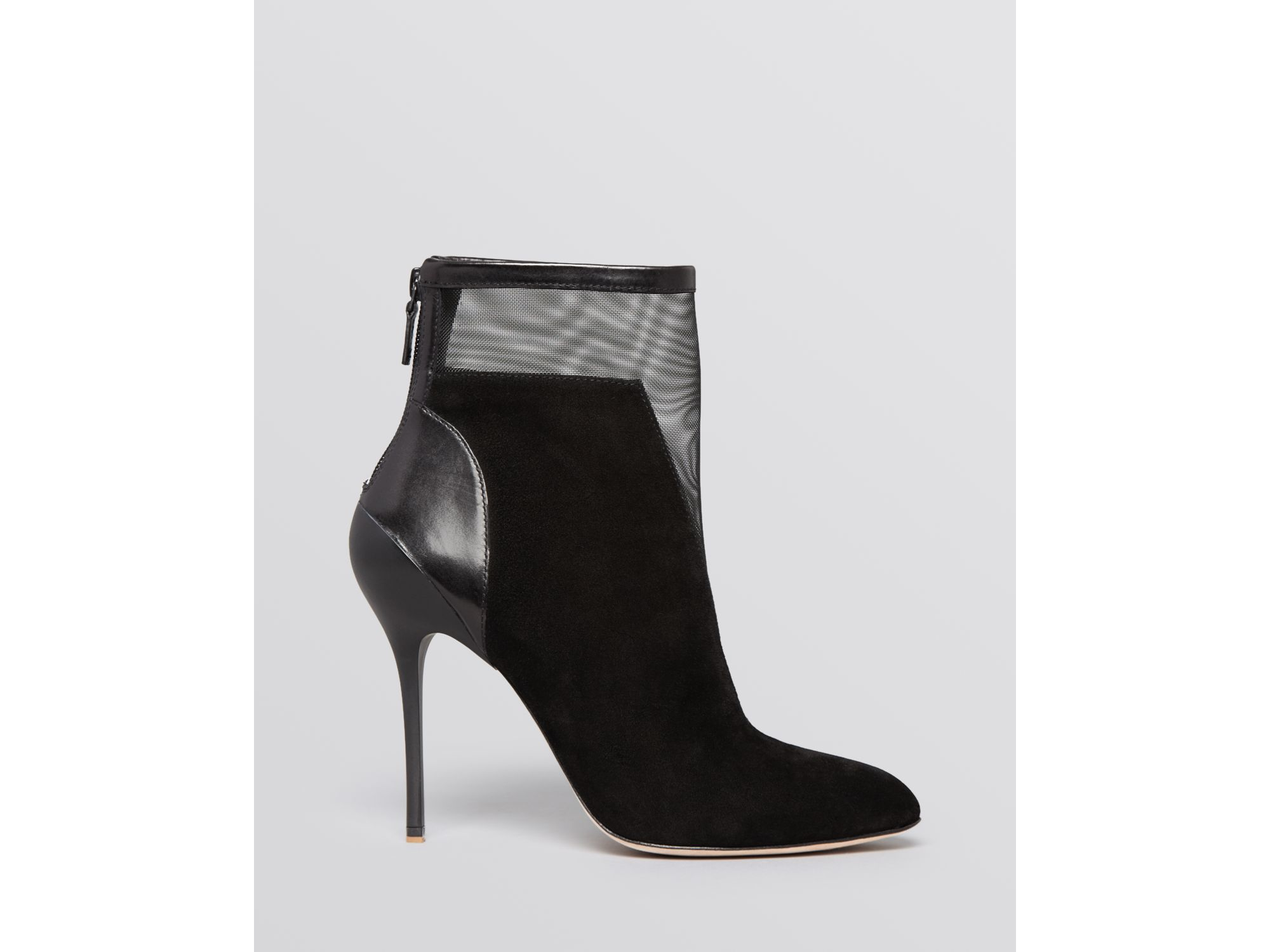 buy cheap outlet store Elie Tahari Suede Pointed-Toe Booties comfortable online professional xEXth