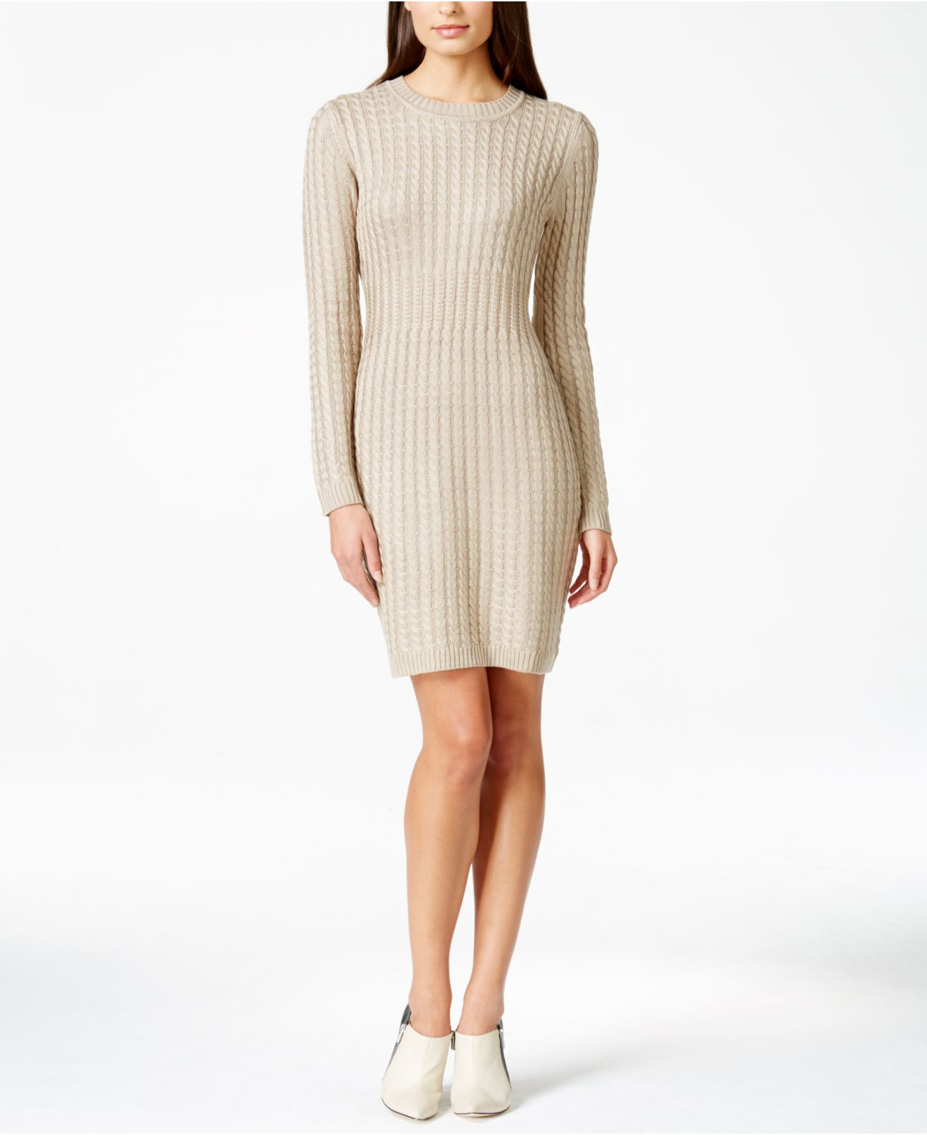 calvin klein macy 39 s exclusive petite cable knit sweater. Black Bedroom Furniture Sets. Home Design Ideas