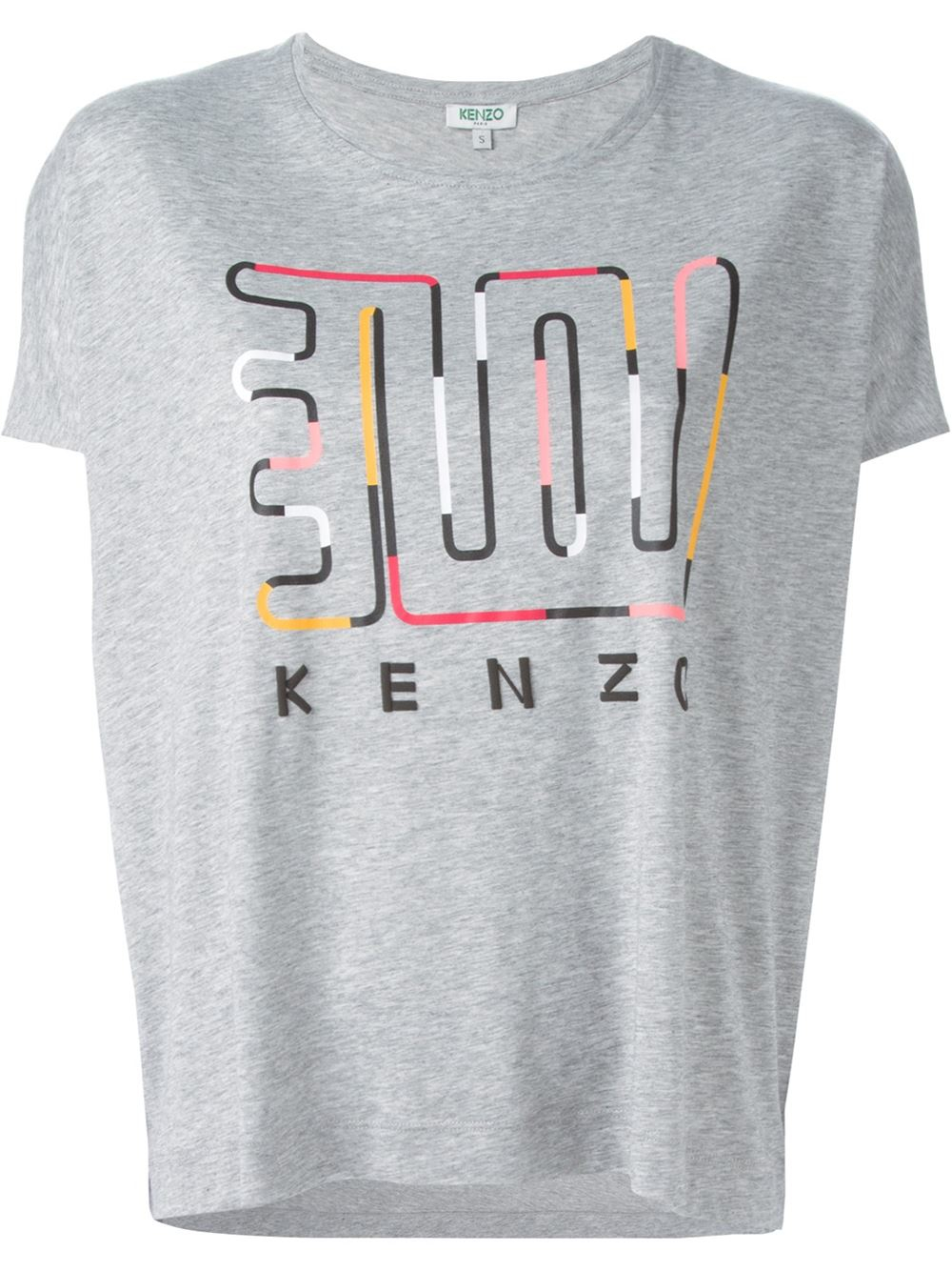 kenzo love t shirt in gray grey lyst. Black Bedroom Furniture Sets. Home Design Ideas