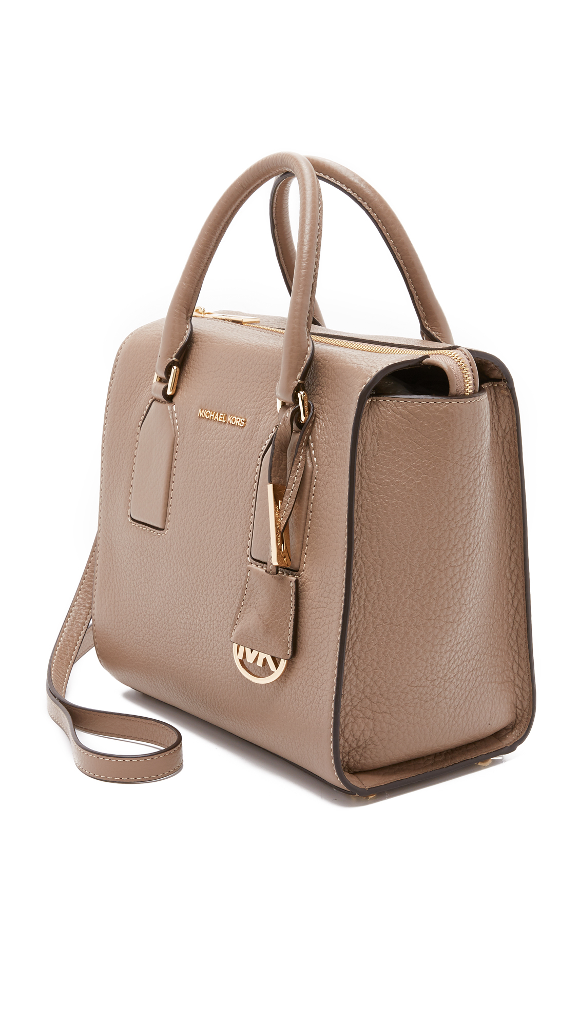 9c58da440dd1 MICHAEL Michael Kors Selby Medium Satchel in Brown - Lyst